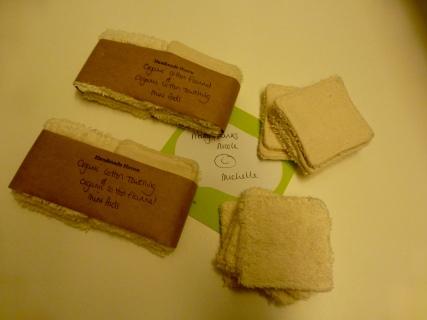 Frisch eingetroffen: die Mini-Pads aus Bio-Baumwolle
