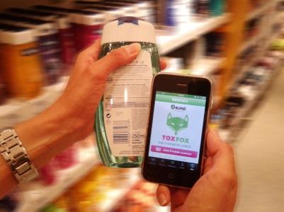 Produkt mit ToxFox scannen (Quelle: BUND)