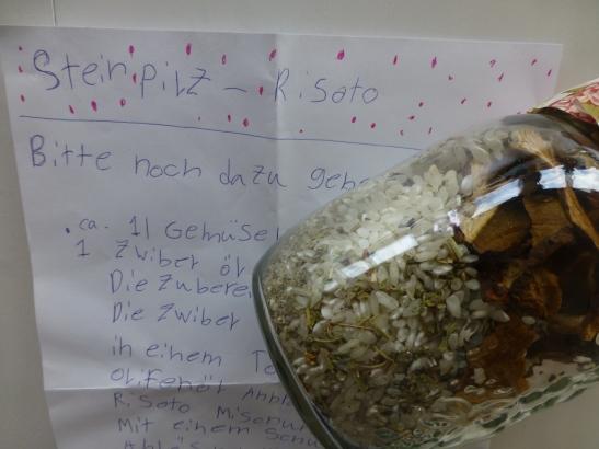 Geschenk von Gottemeitli: Steinpilz-Risotto im Glas