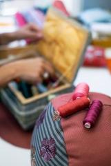 Im Sahara Atelier werden die Sitzkissen hergestellt