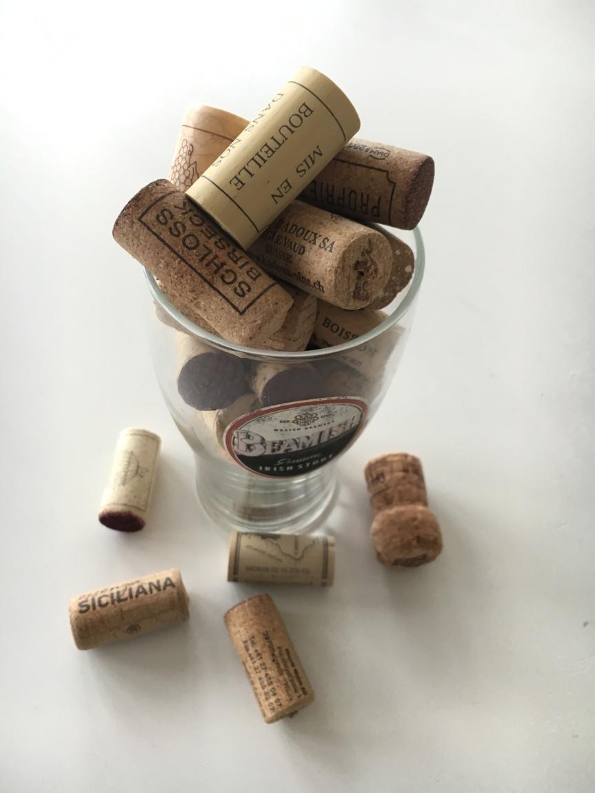 Korken können recycled werden
