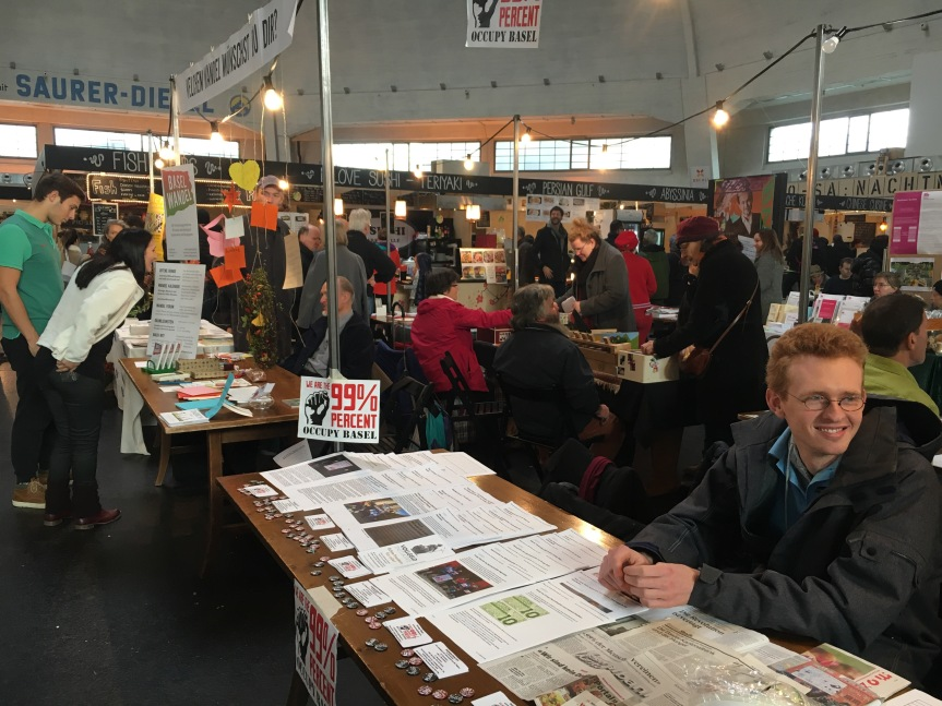 Infostand Occupy Basel