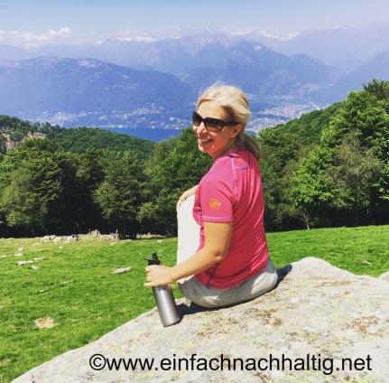 Mit meiner Edelstahlflasche auf der Alpe Cedullo
