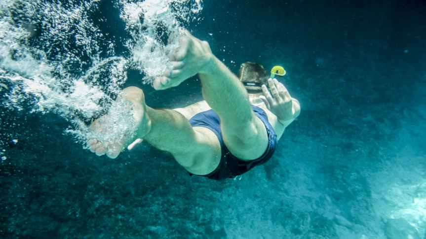 person in underwater